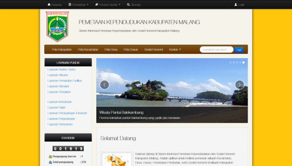 Peta Malang Web Preview