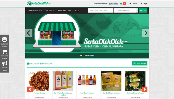 Serba Oleh-Oleh Web Preview